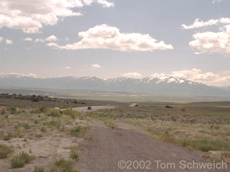 View of Ruby Mountains from Elko Summit.
