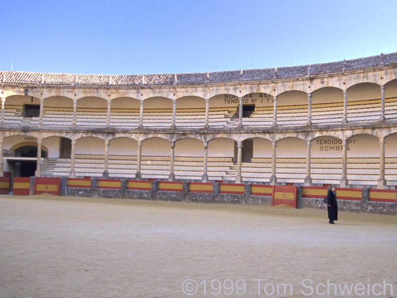 Inside the Ronda Bull Ring.