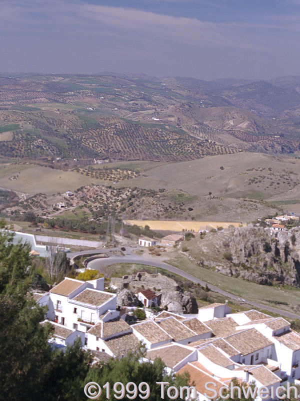 Town of Zahara and countryside.