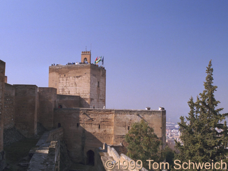 The Alcazar (fort) at the Alhambra.