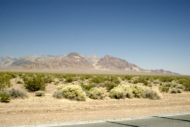Southeastern tip of the Funeral Mountains.
