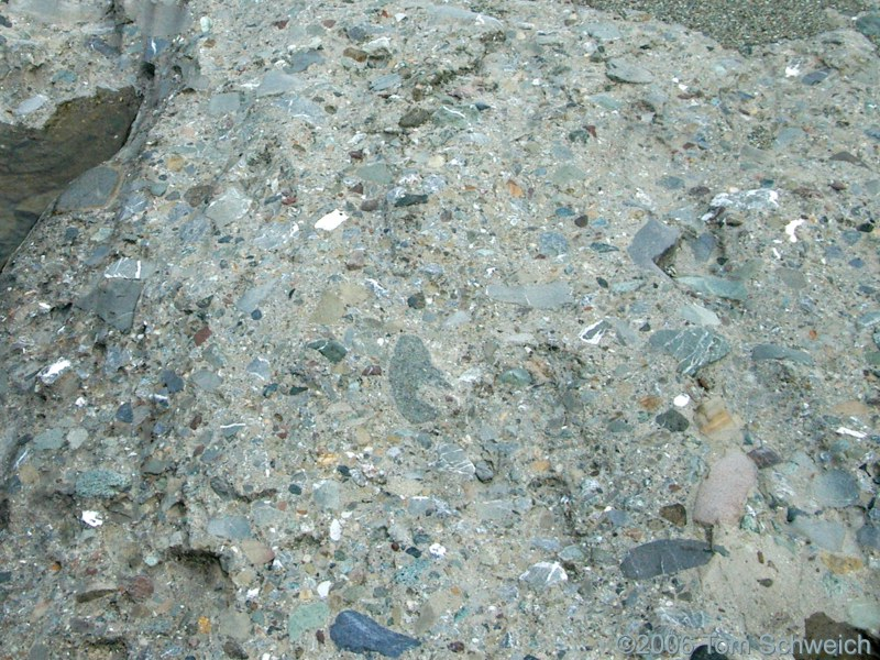 Serpentine Conglomerate, San Benito River, San Benito County, California