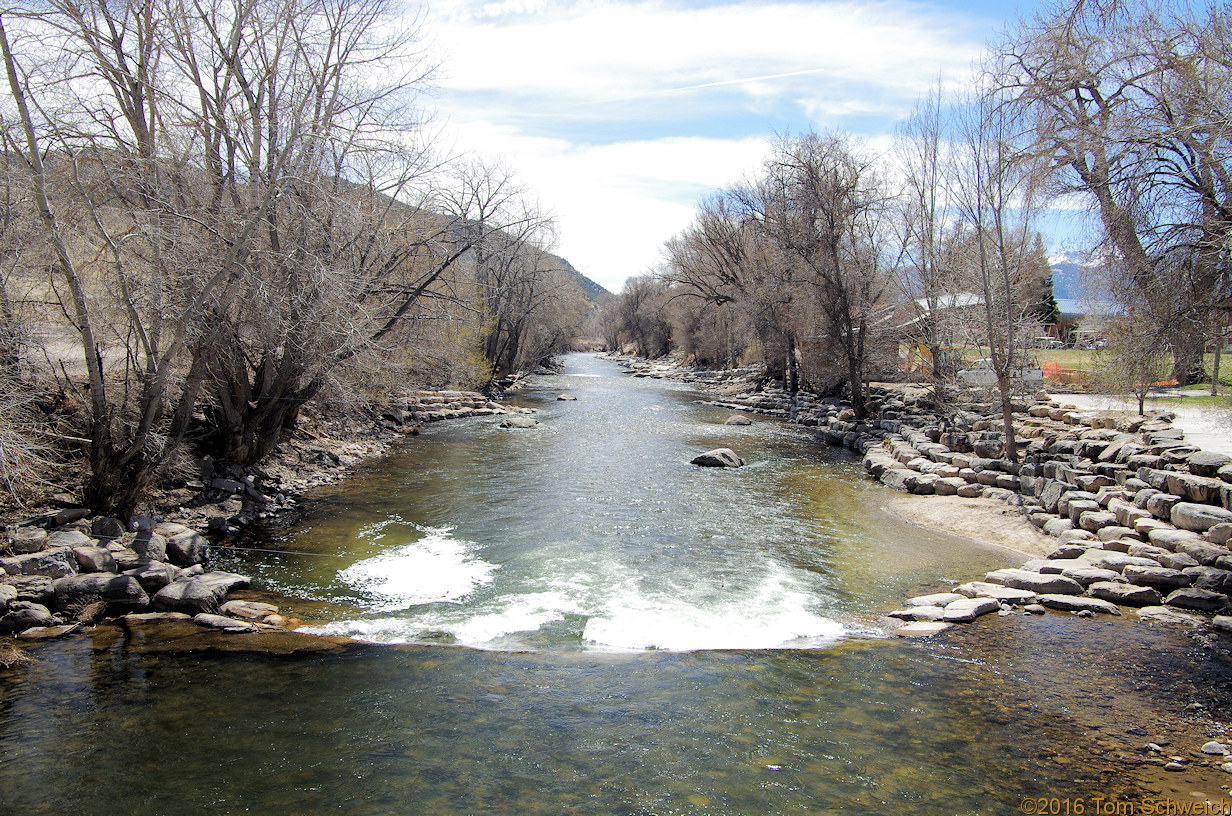 Arkansas River in downtown Salida