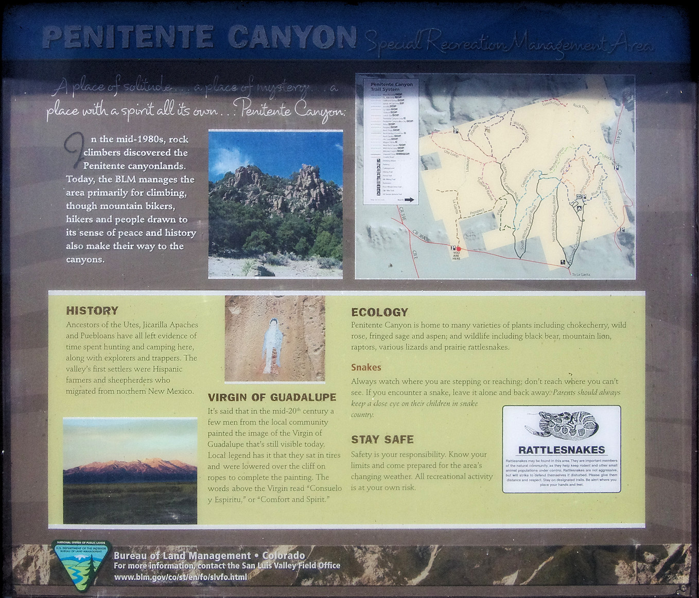 Colorado, Saguache Canyon, Penitente Canyon