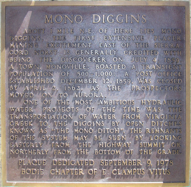 California, Mono County, Mono Diggins